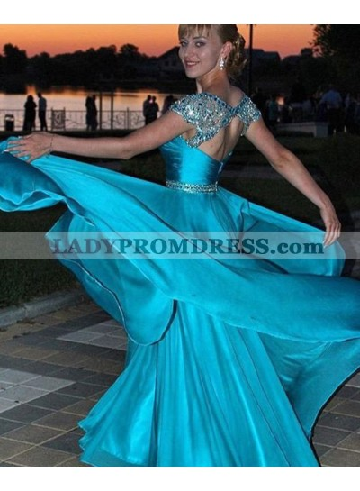 Beading Queen Anne Chiffon Prom Dresses