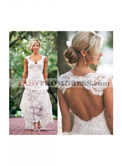 2020 Classic Sheath Sweetheart Lace Backless Outdoor Wedding Dresses