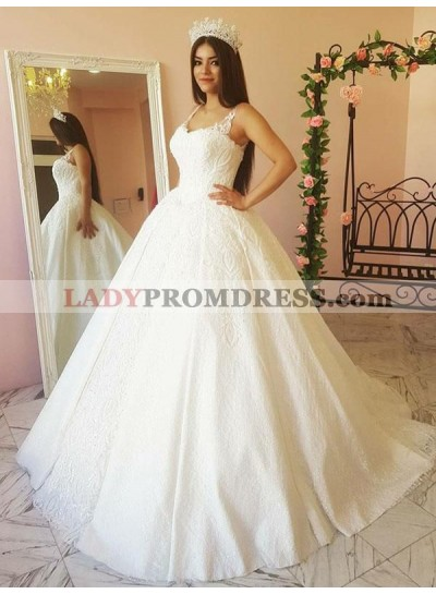 2021 Newly Sweetheart Lace Princess Ball Gown Wedding Dresses / Bridal Gowns