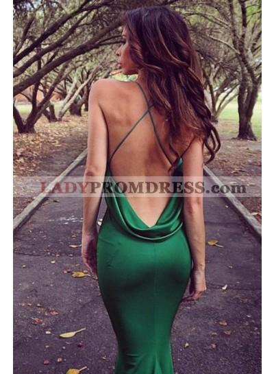 Sweetheart 2021 Hunter Elastic Satin Backless Long Mermaid Prom Dresses