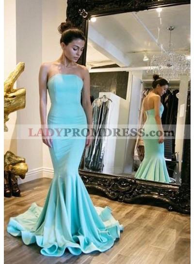 Satin Mermaid/Trumpet Strapless Prom Dresses