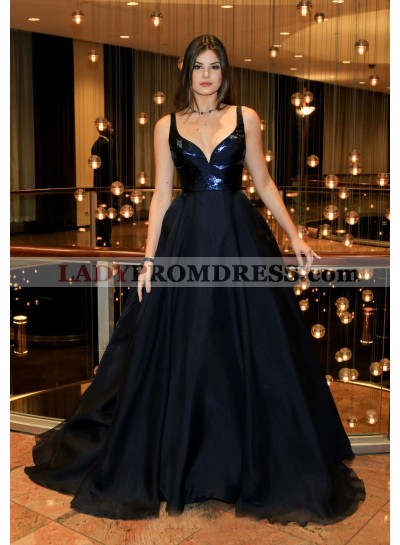 New Arrival Organza Sweetheart Black Ball Gown Prom Dresses