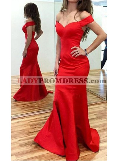 2021 Sexy Red Mermaid Sweetheart 2021 Cheap Prom Dresses