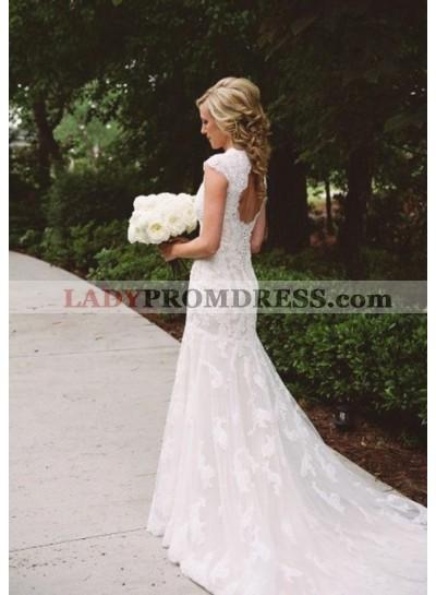 Mermaid Backless Lace Wedding Dresses 2021