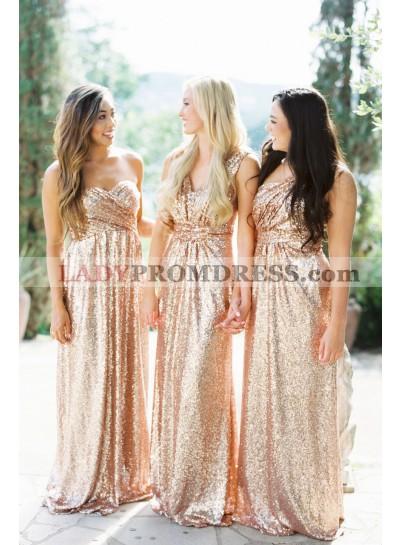 Newly A Line V Neck Sequence 2020 Bridesmaid Dresses