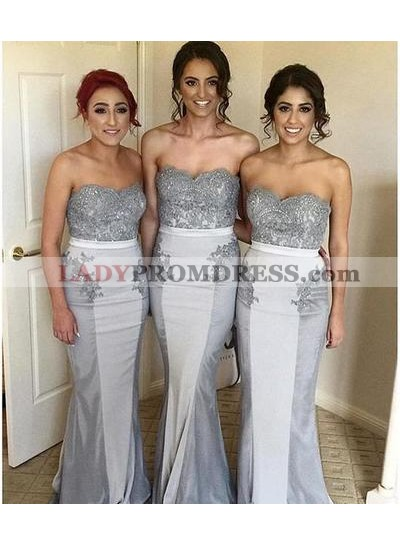 Sexy Mermaid Sweetheart Beaded Bridesmaid Dresses