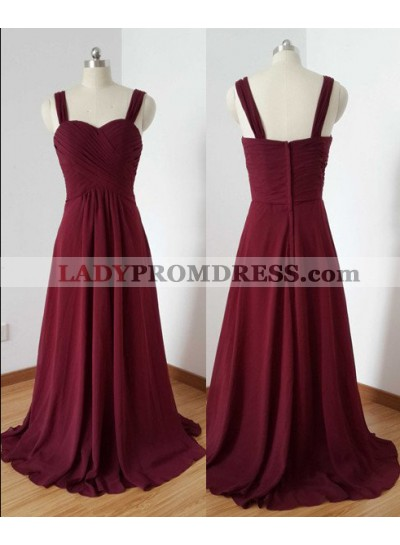 2019 Gorgeous Red Prom Dresses Straps Floor-Length/Long A-Line/Princess