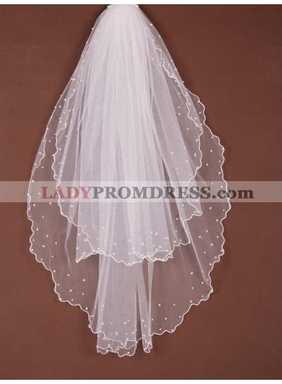 2 Layer Waltz With Beading Wedding Veil