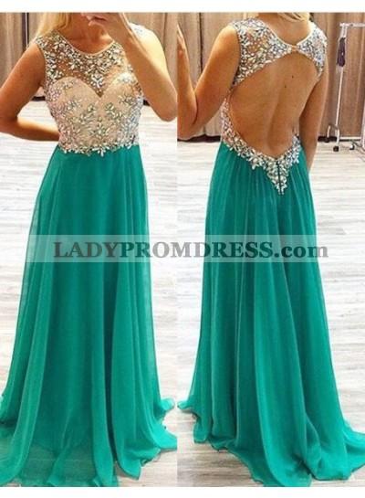 Beading A-Line/Princess Chiffon Prom Dresses