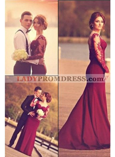 2018 Gorgeous Red Mermaid/Trumpet Sweetheart Stretch Satin Prom Dresses