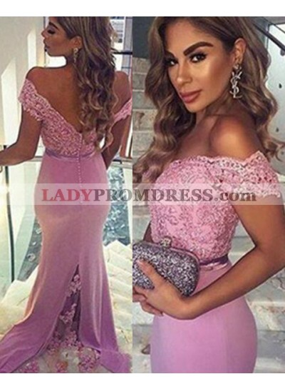 Mermaid/Trumpet Off-the-Shoulder Sleeveless Natural Zipper Chiffon Prom Dresses