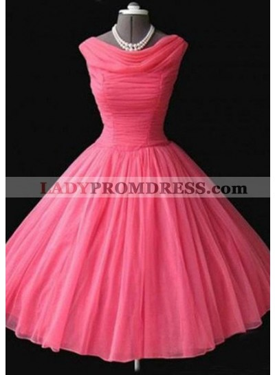 Floor-Length/Long A-Line/Princess Cowl Short/Mini Tulle Prom Dresses
