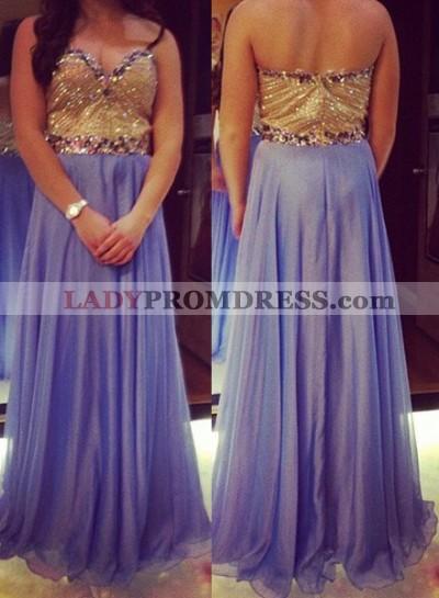 Prom Dresses Sweetheart Beading Sleeveless A-Line/Princess Chiffon