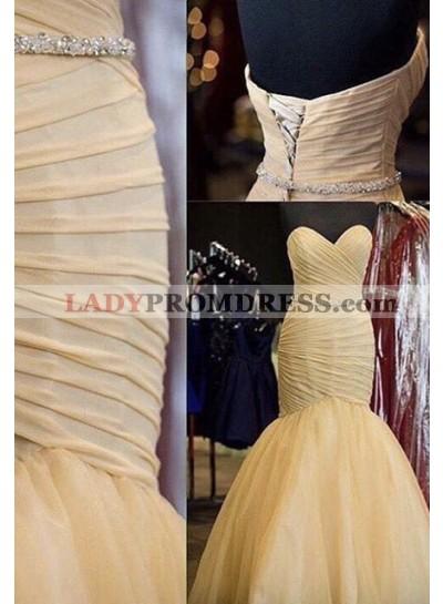Ruching Mermaid/Trumpet Prom Dresses