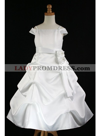 2020 Absorbing Best Selling Short Sleeves Spaghetti Straps  A-Line First Communion Dresses / Flower Girl Dress