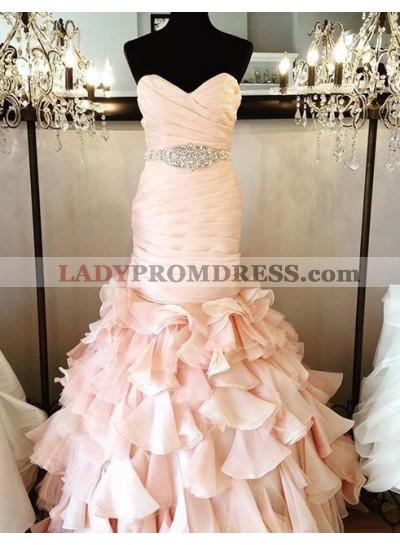 Ruching Layers Mermaid/Trumpet Chiffon Prom Dresses