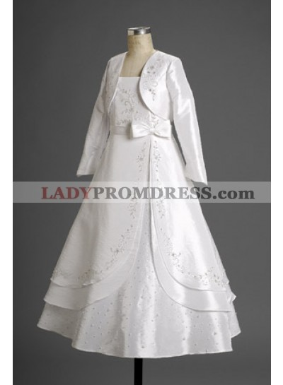 Exclusive Unique White Floor Length Applique Actual First Communion Dresses 2020