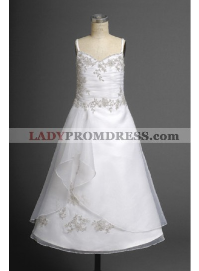 Alluring A-line Hot Sale V-neck Flower Girl Actual First Communion Dresses