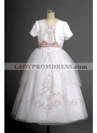 2020 Princess Lovely Applique Ball Gown Design Hot Sale Long Communion Dress