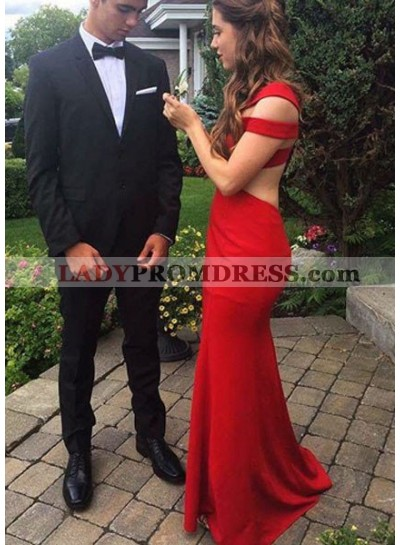 Backless Mermaid/Trumpet Satin Prom Dresses