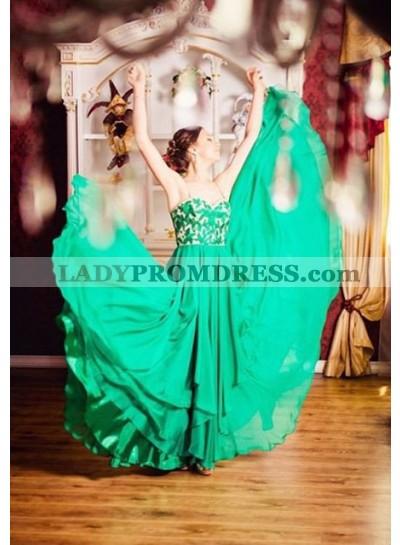 Prom Dresses Spaghetti Straps Layers A-Line/Princess