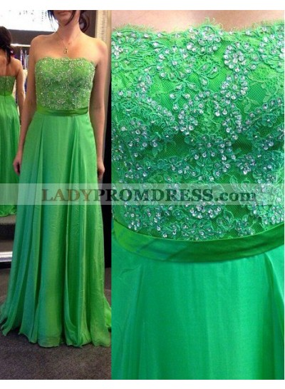 Prom Dresses Strapless Floor-Length/Long A-Line/Princess Chiffon