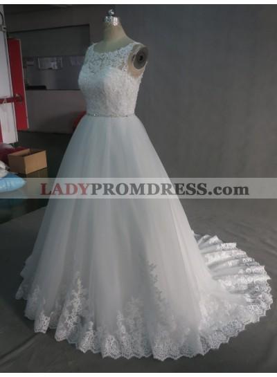 2020 A Line Lace Wedding Dresses