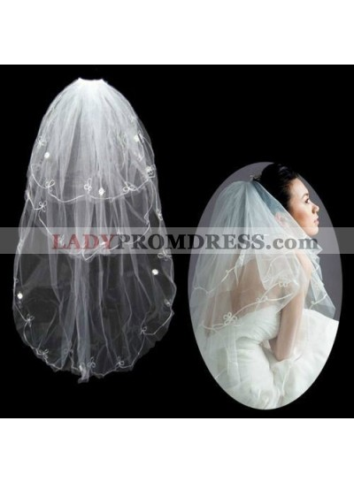 Nice Elbow With Embroidery Wedding Veil