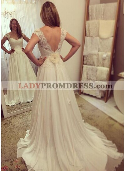 Cheap A Line Chiffon Sweetheart Lace 2021 Wedding Dresses