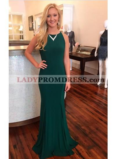 Charming Trumpet/Mermaid Hunter 2021 Prom Dresses Backless