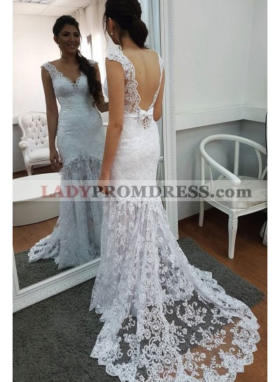 Sheath Backless Lace Sweetheart Bowknot Back Wedding Dresses 2021