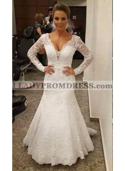 New Arrival Mermaid Lace Long Sleeves 2021 Wedding Dresses