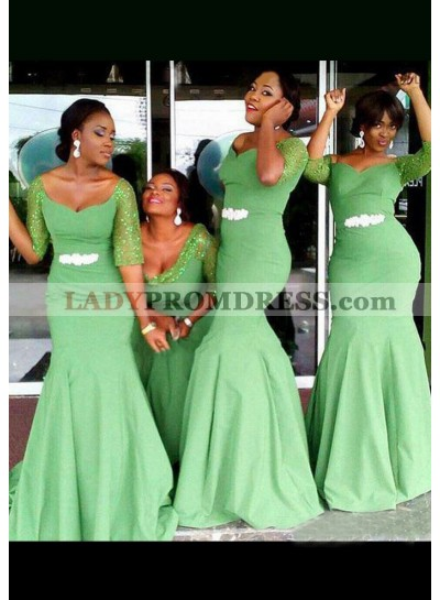 Chiffon Bridesmaid Dresses / Gowns Sheath/Column Sweetheart Long/Floor-Length With Rhinestone