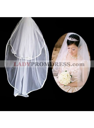 Simple 2 Layers Wedding Veil