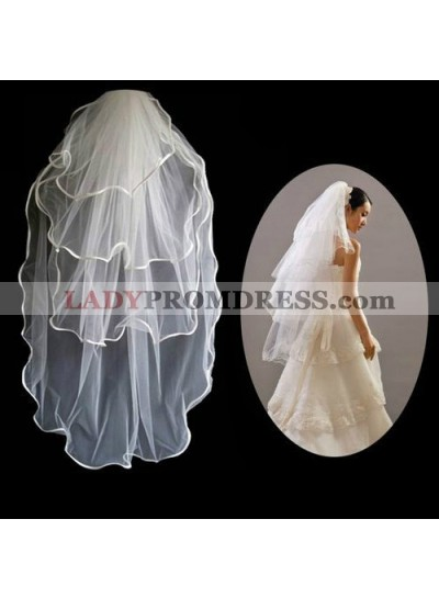 Simple 3 Layers Wedding Veil