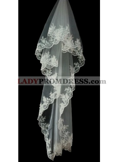 Very Beautiful Wedding Veil With Embroidery