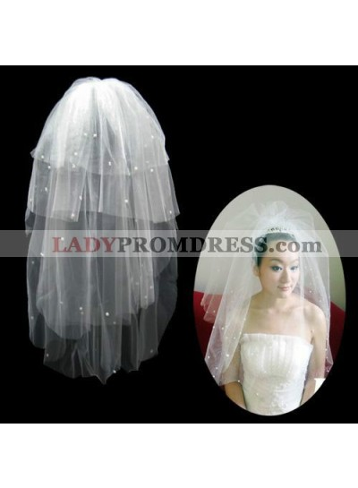Very Gorgeous Wedding Veil With Beading