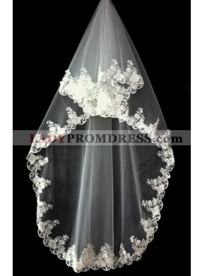 Very Nice Wedding Veil With Embroidery