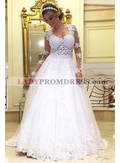 Best Selling A Line Sweetheart Long Sleeves 2020 Wedding Dresses
