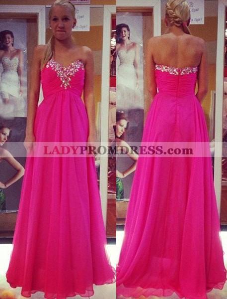 12134d77d6 Prom Dresses Sweetheart Beading Empire Waist A-Line Princess Chiffon