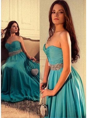 Ruching Sweetheart Chiffon Prom Dresses