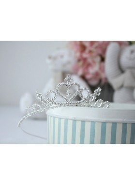 Fashion Girl's Shiny Diamonds Crown First Communion Crown Cheap Girl's Headwear