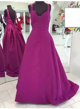 Sexy Straps A-Line/Princess Satin Prom Dresses