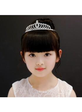 Princess Crown Girl's Diamonds Crown First Communion Crown Cheap Girl's Headwear