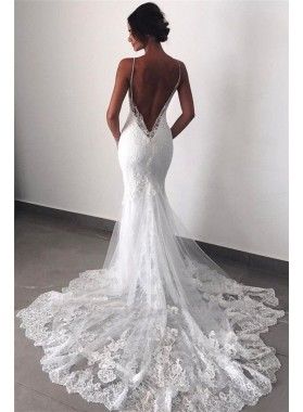 2020 New Arrival Mermaid/Trumpet Sweetheart Backless Lace Beach Wedding Dresses / Bridal Gowns