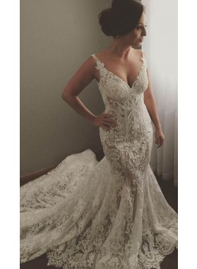 2020 New Arrival Mermaid/Trumpet Lace Sweetheart Long Wedding Dresses / Bridal Gowns