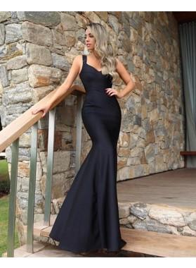 Charming Black Mermaid Satin Sweetheart Cheap 2021 Prom Dresses