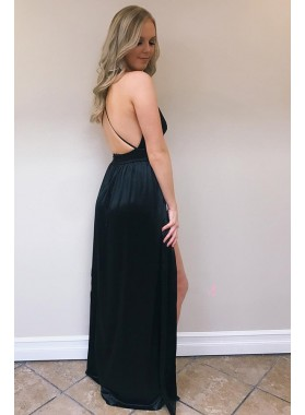 Cheap A Line Red Sweetheart Side Slit Backless Prom Dresses 2021