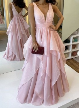 Dusty Rose Sweetheart Taffeta Ruffles Long A Line Prom Dress 2021
