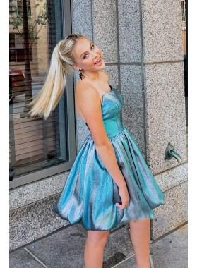 A Line Strapless Taffeta 2021 Short Homecoming Dresses